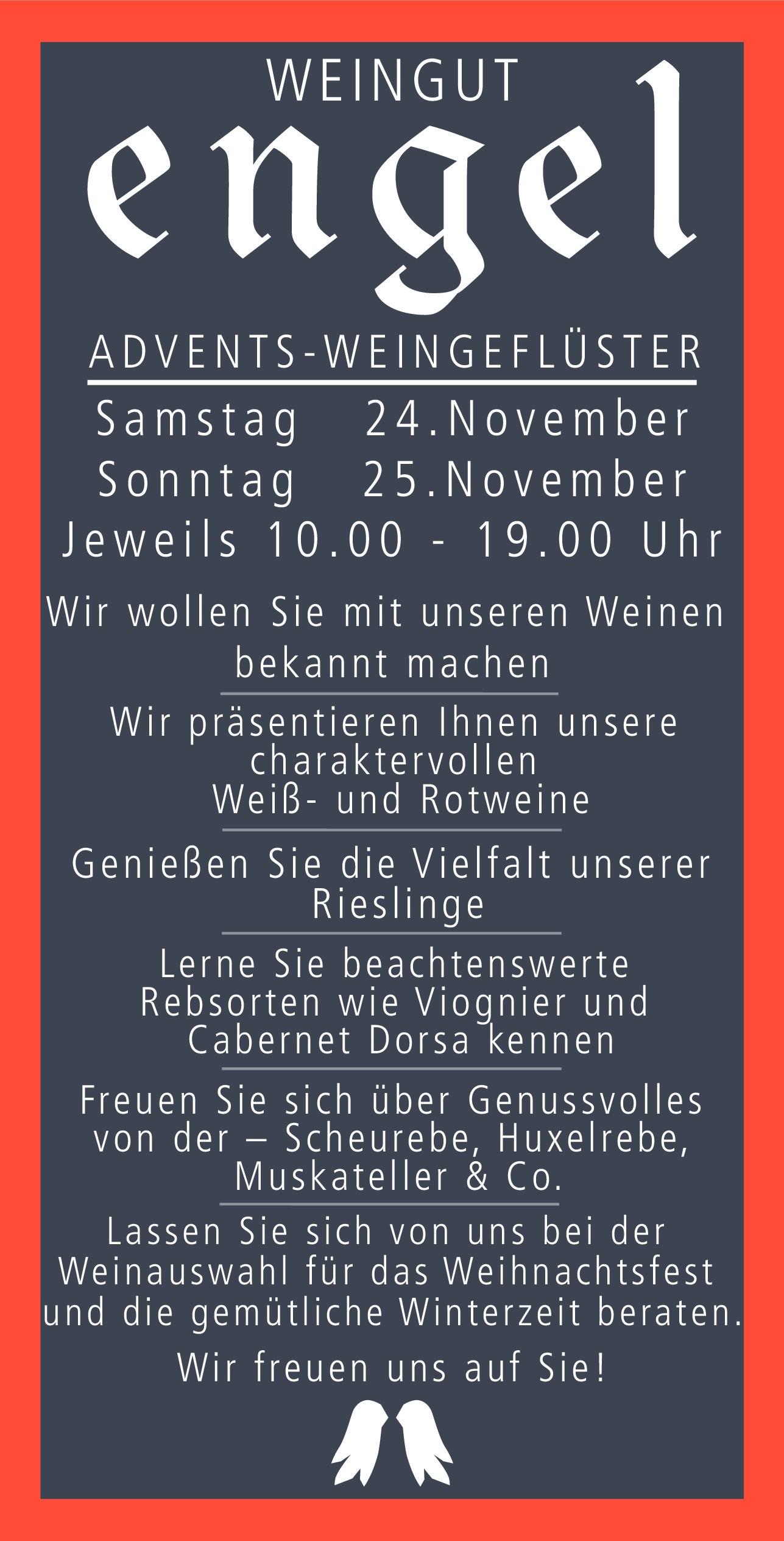 Weingeflüster am 24. und 25. November 2018