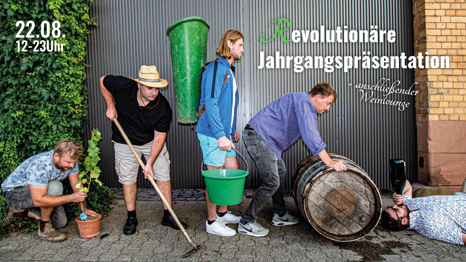 Revolutionäre Jahrgangspräsentation mit anschließender Weinlounge
